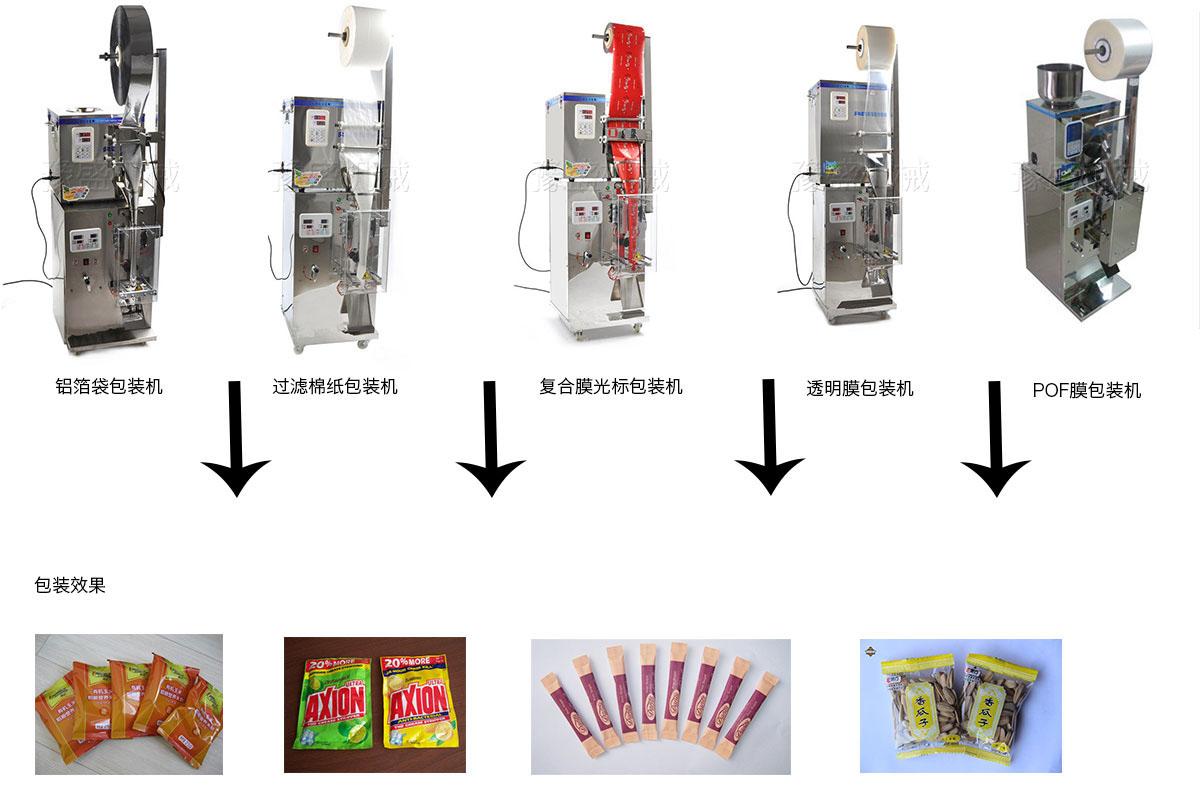大蒜粉分装机工作流程图
